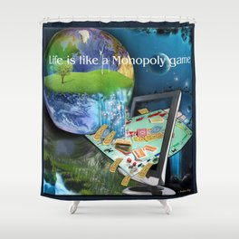 Life is like a Board Game Shower Curtain