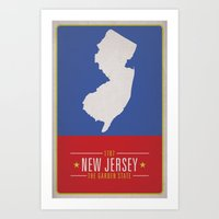 new jersey Art Prints featuring NEW JERSEY by Matthew Justin Rupp