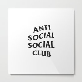 Anti social social club Metal Print
