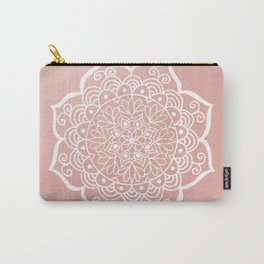 Pretty Mandala on Rose Gold Carry-All Pouch