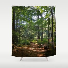 Serene Woodlands Shower Curtain