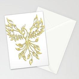 Golden Phoenix Rising Stationery Cards