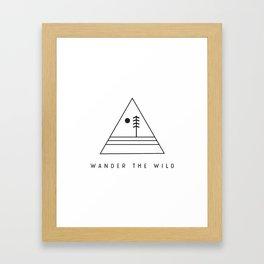 Wander The Wild Framed Art Print