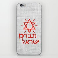 israel iPhone & iPod Skins featuring Bless Israel by biblebox