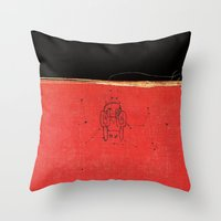 radiohead Throw Pillows featuring Radiohead - Amnesiac by NICEALB