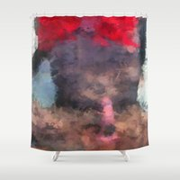 redhead Shower Curtains featuring Redhead by TARA SCHLAYER