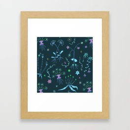 Blue Flora of Planet Hinterland Framed Art Print