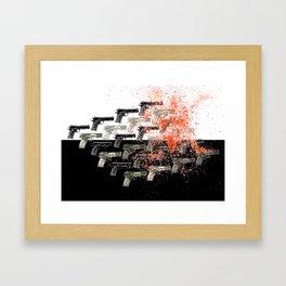 Plata es Plomo Framed Art Print