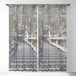 Tahquamenon Stairs Sheer Curtain