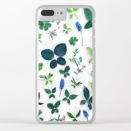 Nature Butterfly Pattern 1 Clear iPhone Case