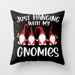 Hanging with My Gnomies Funny Kids Christmas Gifts Throw Pillow