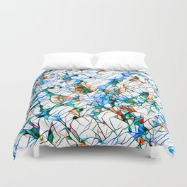 Glass stain mosaic 1 abstract - by Brian Vegas Duvet Cover