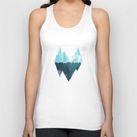 low poly Tank Tops featuring Low Poly Polar Bear by scarriebarrie