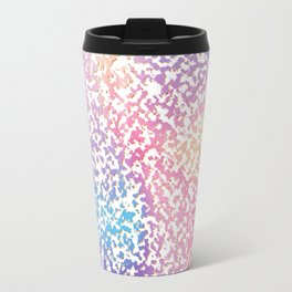 Abstract lavender pink ombre modern pattern Travel Mug