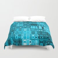 blueprint Duvet Covers featuring Blueprint by Alice Gosling