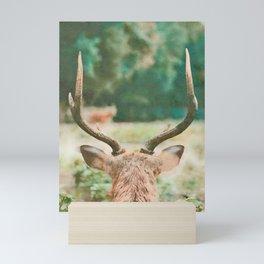Deer head watercolor painting Mini Art Print