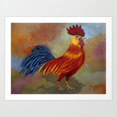 Rooster-3 Art Print