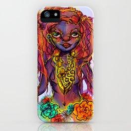 Flower Power Girl iPhone Case