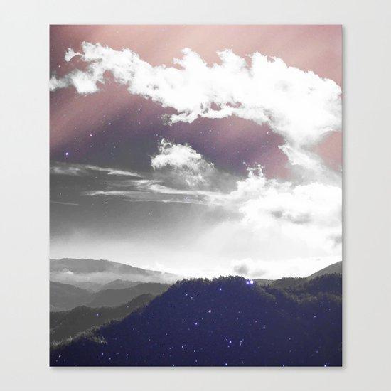 Galaxy Mountain #society6 #buyart #decor Canvas Print