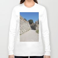 caleb troy Long Sleeve T-shirts featuring Troy by Malcolm Snook
