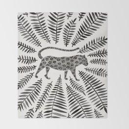 Black Jaguar Throw Blanket