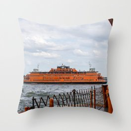 S.I. Ferry NYC Throw Pillow