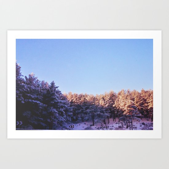 Winter threes Art Print