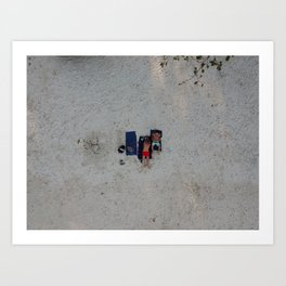 Aerial Beach Towels Art Print