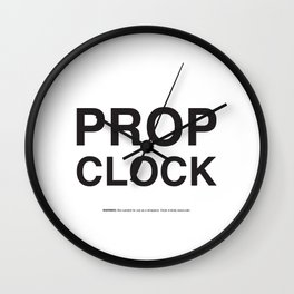 Prop Use Only Wall Clock
