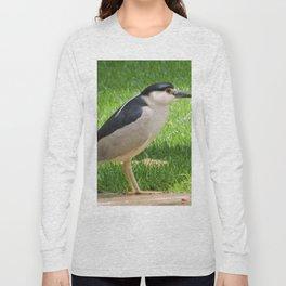 Black Crowned Night Heron in the Park Long Sleeve T-shirt