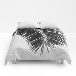 Palm Leaf Black & White I Comforters