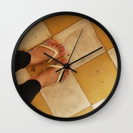 Footsteps in Tuol Sleng Wall Clock