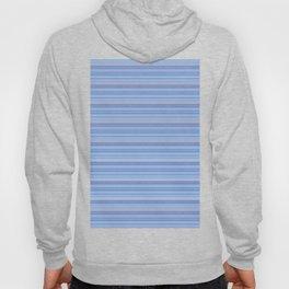 Sky Blue Striped Pattern Hoody