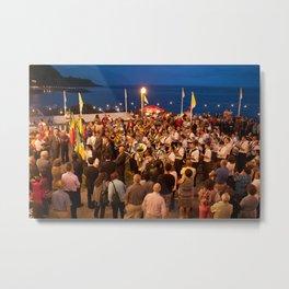 Festivities in Ribeira Quente Metal Print