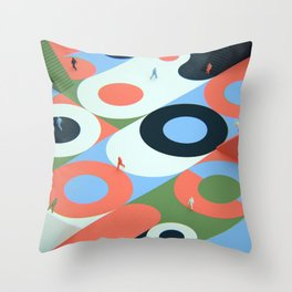 Circles and stairs Throw Pillow