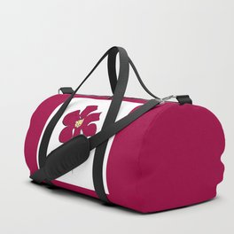 sketch of a red flower Duffle Bag