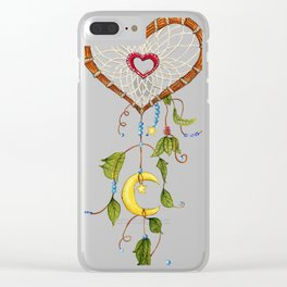 Catching My Heart Dream Catcher Clear iPhone Case
