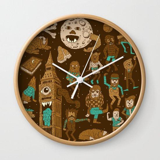Wow! Werewolves!  Wall Clock