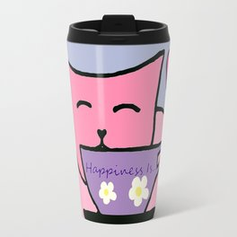 Happiness Is Cats and Tea Travel Mug