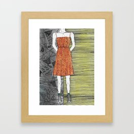 The girl in the dress. Framed Art Print