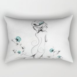 Poppy Poem Rectangular Pillow