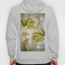 textile / flower / green  Hoody