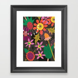 Jungle Flowers Framed Art Print