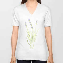 Lavender Unisex V-Neck