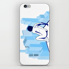 Me against the city iPhone Skin