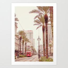 Tram in Nola Art Print