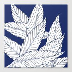 SUMMERTIME (Leaves on blue) Canvas Print