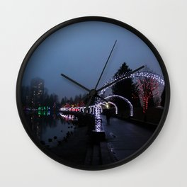 Arches to Christmas Wall Clock