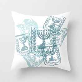 Emblem of Israel Throw Pillow