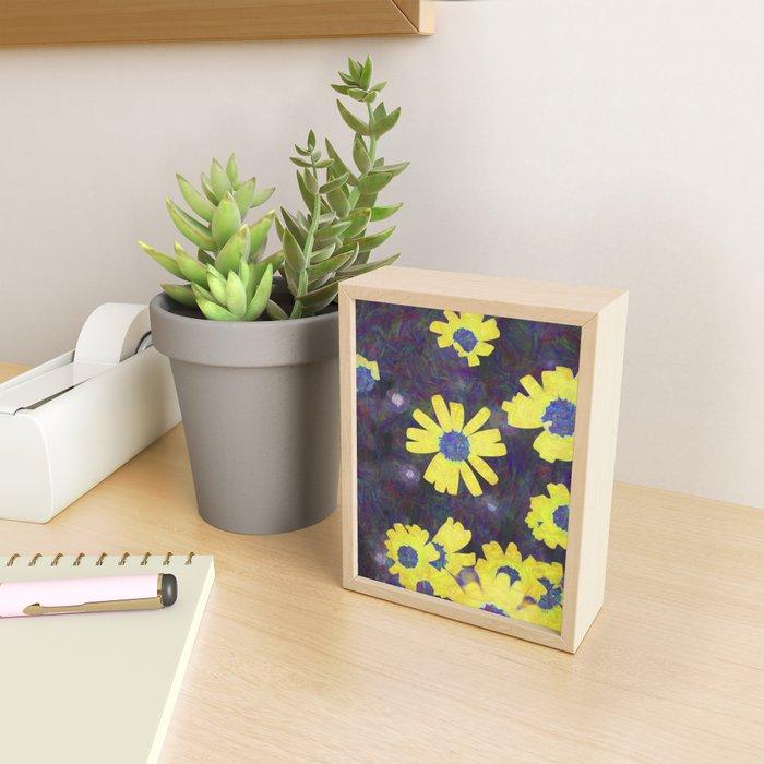daisies in the garden Framed Mini Art Print